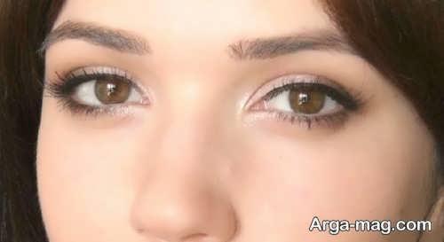 آموزش آرایش ساده و شیک چشم
