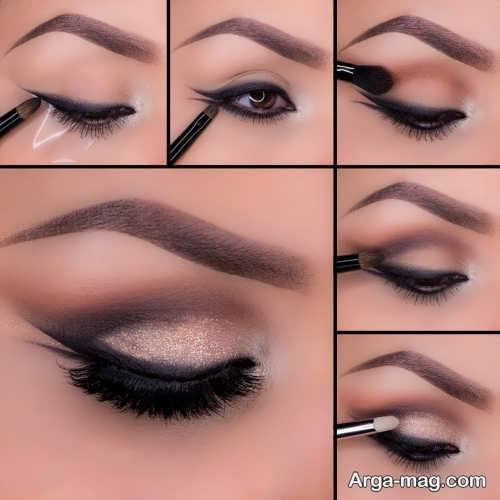 مدل آرایش مجلسی و زیبا چشم