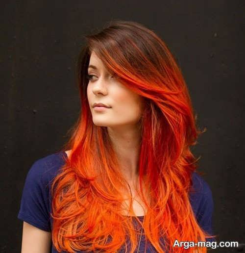 رنگ موی آتشی زیبا