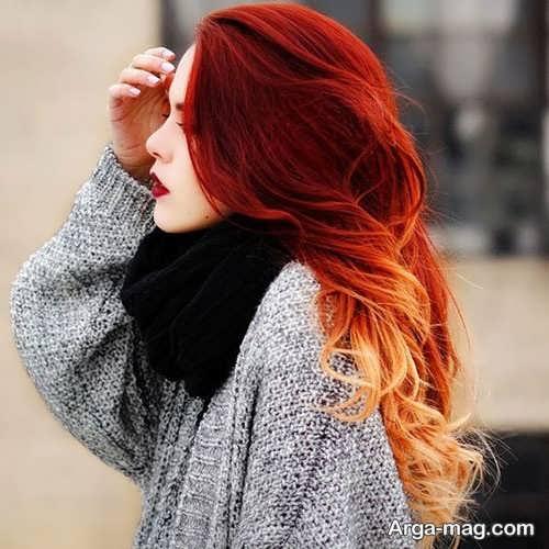 رنگ موی آتشین
