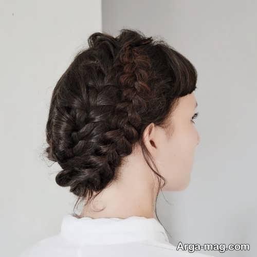 مدل شینیون فرانسوی همراه با بافت مو