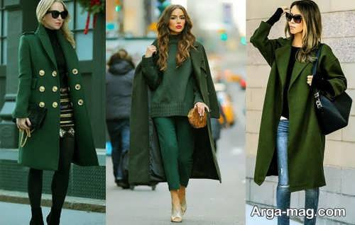 مدل مانتو سبز جلوباز
