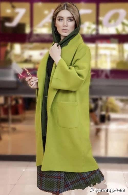 مدل مانتوی سبز