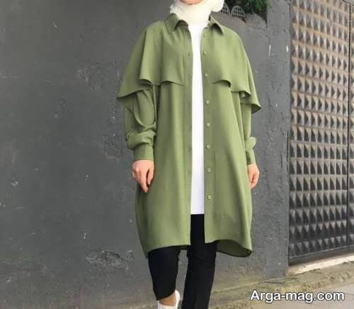 تصاویر مدل مانتوهای سبز