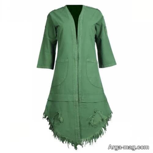 مدلی از مانتو سبز دخترانه