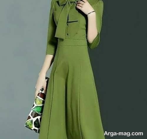 مدل مانتو سبز بلند و زیبا