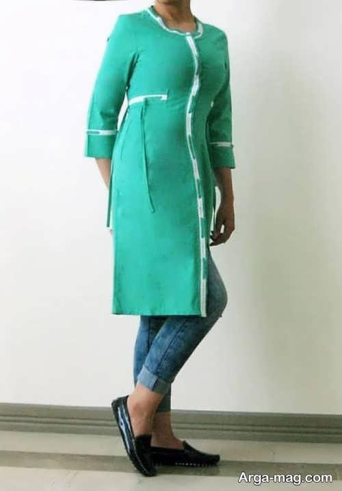 مدل مانتو اسپرت سبز