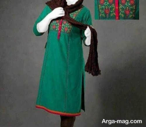 مدل مانتوی دخترانه سبز