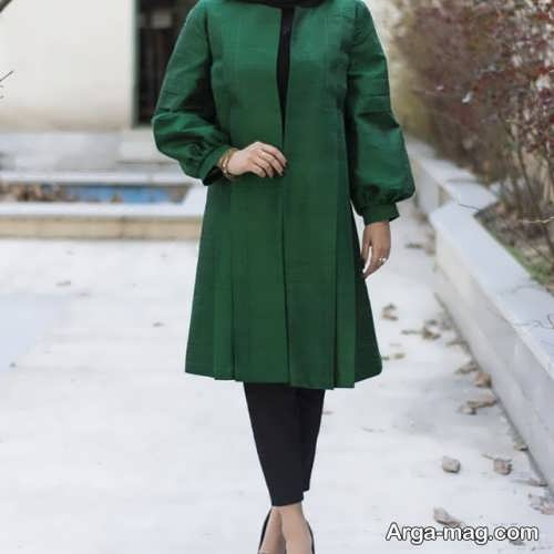 مدل مانتو ساده سبز