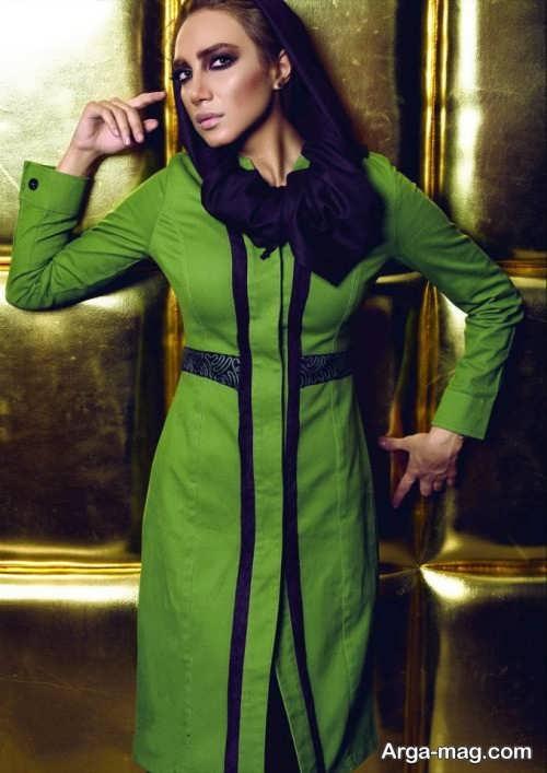 مدل مانتوی زنانه سبز