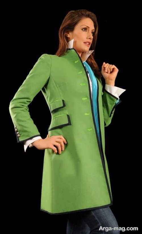 مدل مانتو سبز با جدیدترین طرح ها