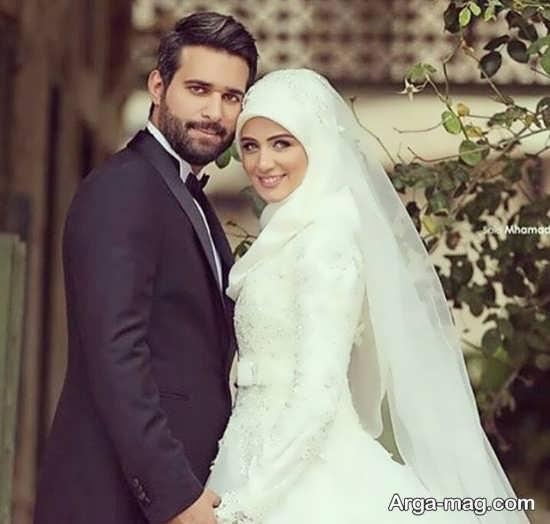ژستهای قشنگ عکس داماد و عروس