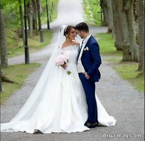 ژستهای منحصر به فرد عکس داماد و عروس
