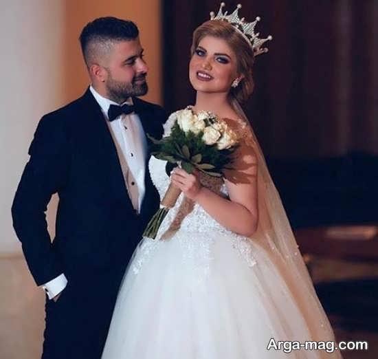 ژستهای جدید عکس داماد و عروس