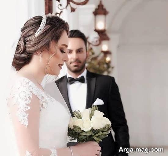 ژستهای متفاوت عکس داماد و عروس