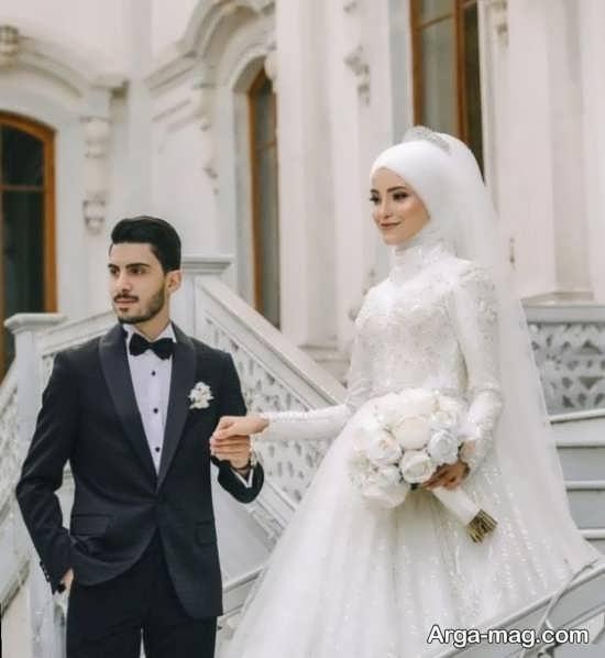 ژستهای تماشایی عکس داماد و عروس