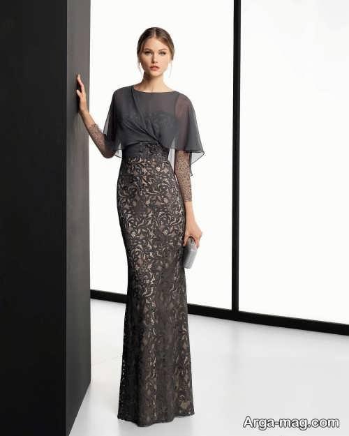 مدل لباس مجلسی بلند و شیک گیپور