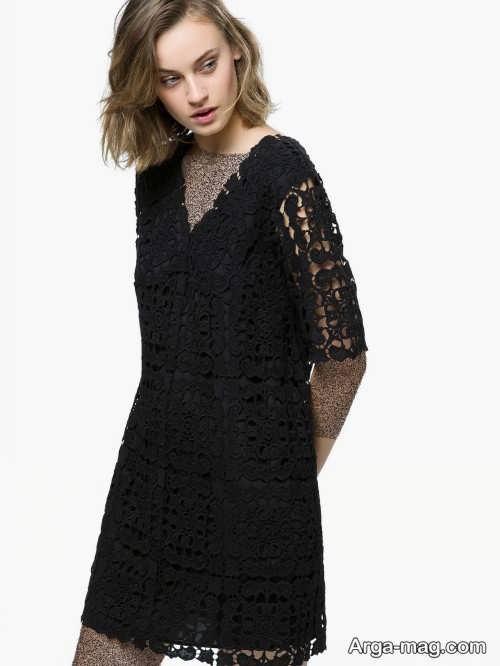 مدل پیراهن گیپور دخترانه