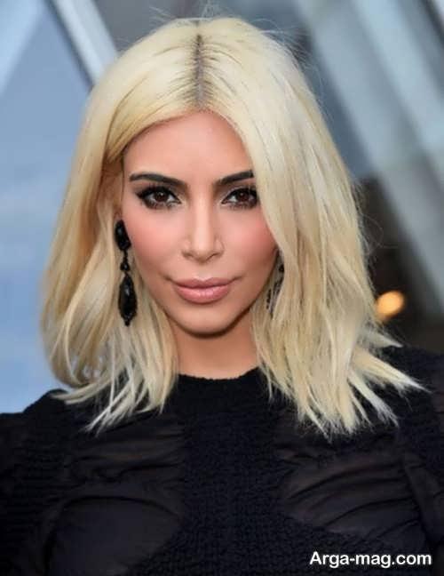 مدل موی متوسط باری صورت مربعی
