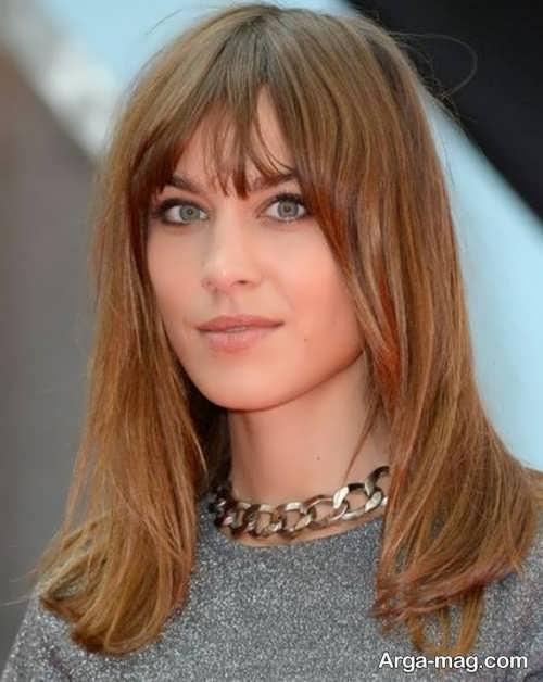مدل مو بلند زنانه برای صورت مربعی