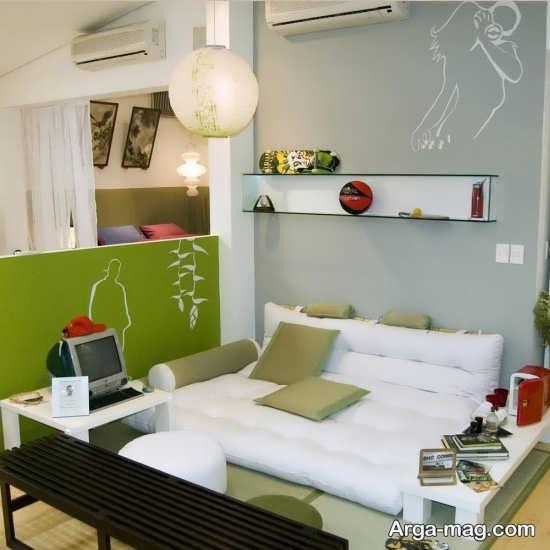 طراحی اتاق نشیمن با وسایل ساده
