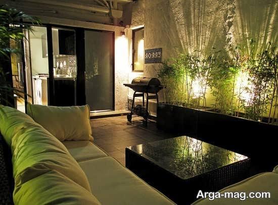 تزیین زیبای اتاق نشیمن
