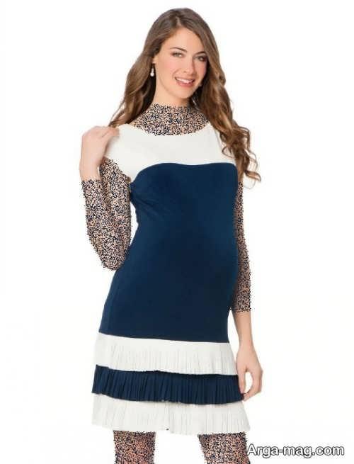 مدل لباس دو رنگ مخصوص بارداری