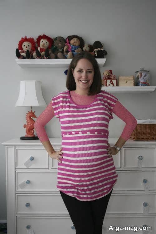 لباس بارداری راه راه