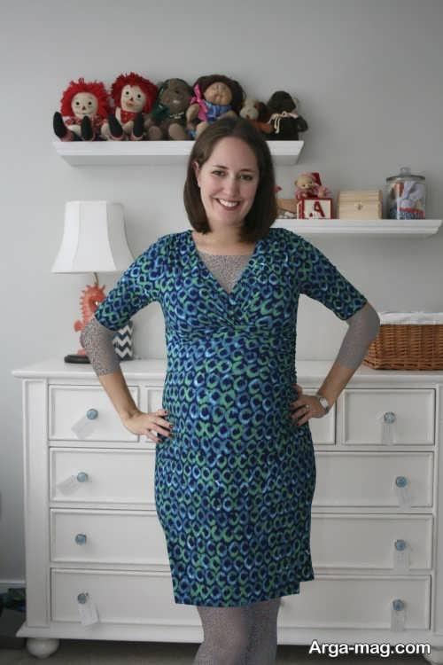 مدل لباس طرح دار مخصوص بارداری