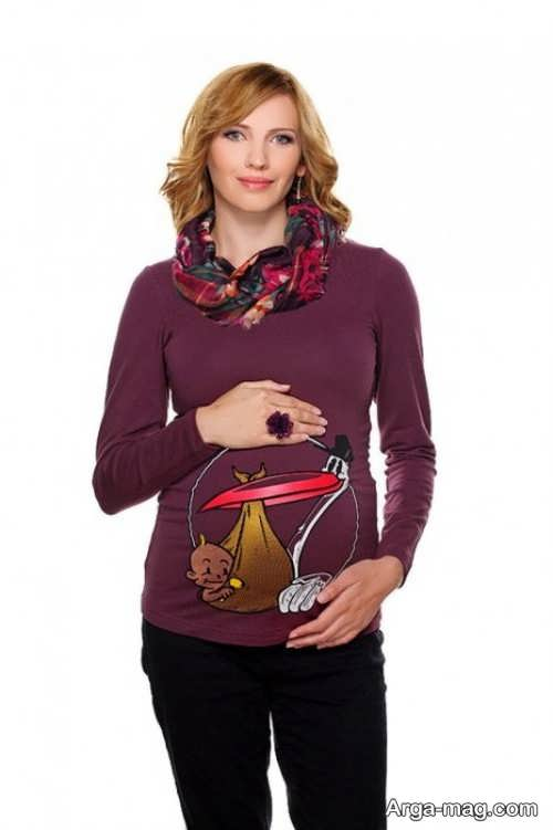 مدل لباس آستین دار مخصوص بارداری