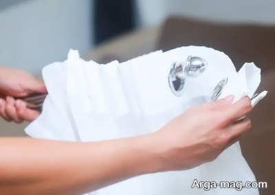 شستن پرده با دست