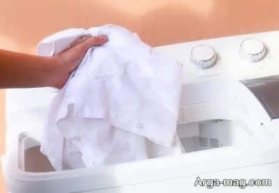 در آوردن پرده از ماشین لباسشویی