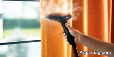 شستن پرده در خانه