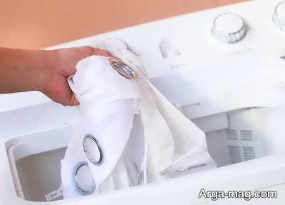 شستن پرده با ماشین لباسشویی