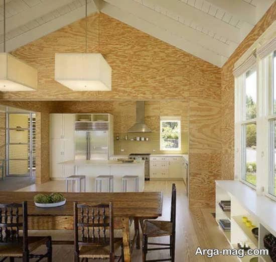 دیزاین زیبای منزل با چوب