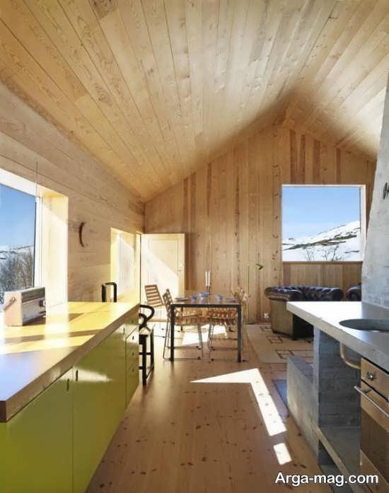دیزاین ایده آل منزل با چوب