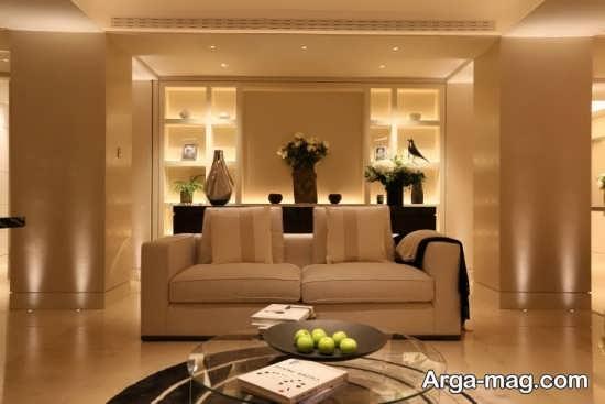طراحی نورپردازی اتاق پذیرایی