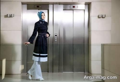 مدل مانتو مشکی و سفید دخترانه