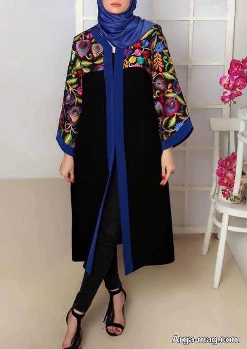 مدل مانتو سنتی بلند و جذاب