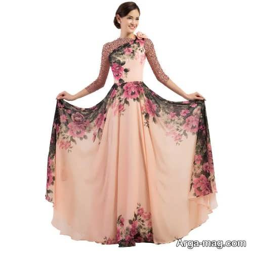Long silk dress 10 - مدل لباس حریر بلند برای خوش پوش بودن در مجالس و مهمانی ها