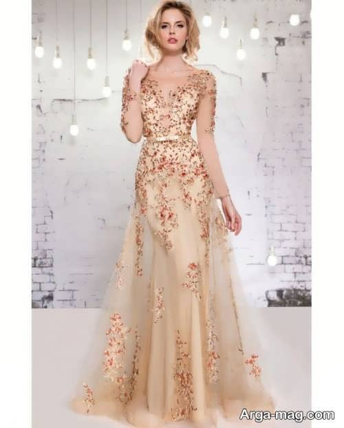 Long silk dress 12 - مدل لباس حریر بلند برای خوش پوش بودن در مجالس و مهمانی ها