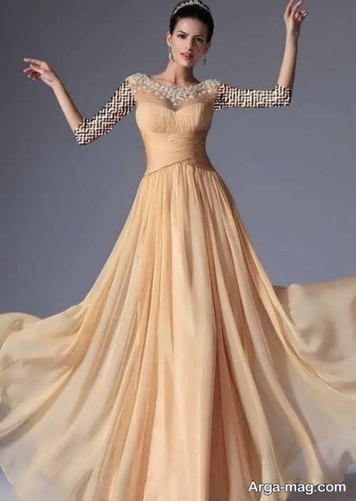 Long silk dress 18 - مدل لباس حریر بلند برای خوش پوش بودن در مجالس و مهمانی ها