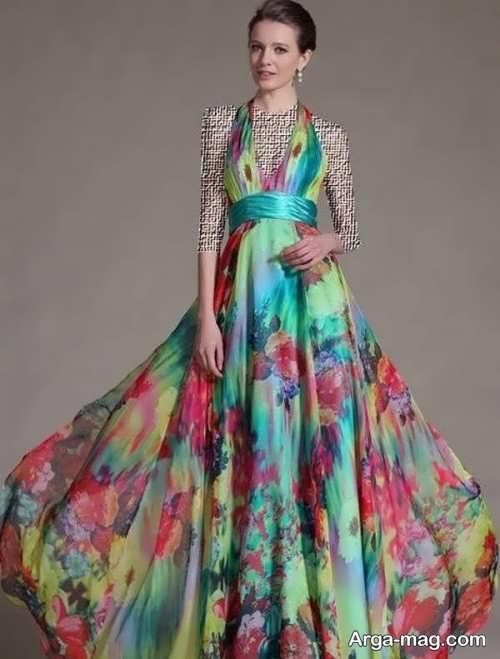 Long silk dress 19 - مدل لباس حریر بلند برای خوش پوش بودن در مجالس و مهمانی ها