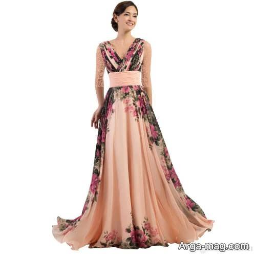 Long silk dress 22 - مدل لباس حریر بلند برای خوش پوش بودن در مجالس و مهمانی ها