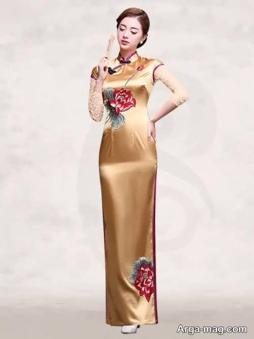 Long silk dress 261 - مدل لباس حریر بلند برای خوش پوش بودن در مجالس و مهمانی ها