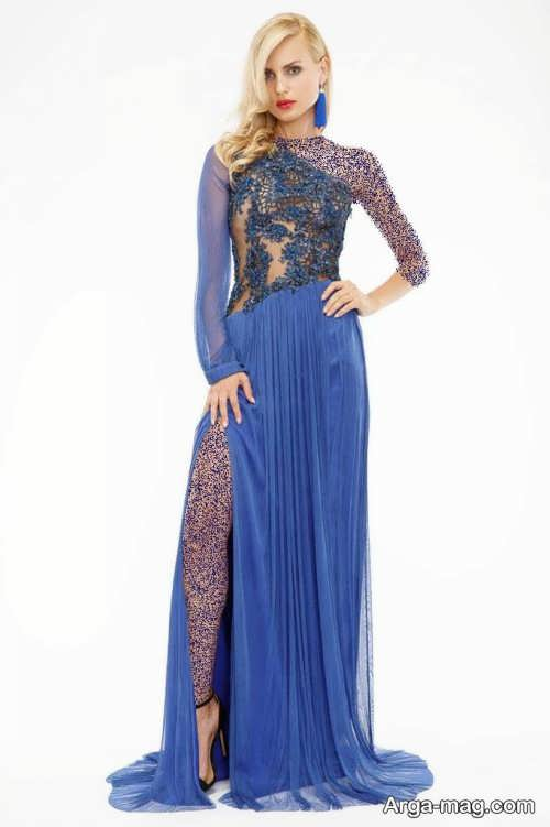 Long silk dress 4 - مدل لباس حریر بلند برای خوش پوش بودن در مجالس و مهمانی ها
