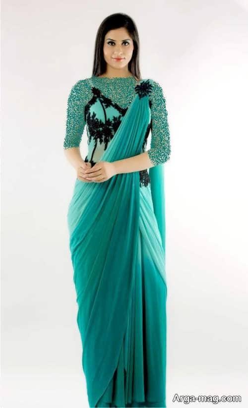 Long silk dress 5 - مدل لباس حریر بلند برای خوش پوش بودن در مجالس و مهمانی ها