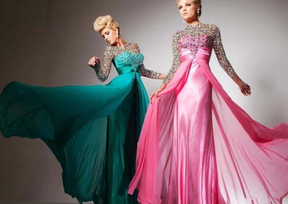 مدل لباس حریر بلند