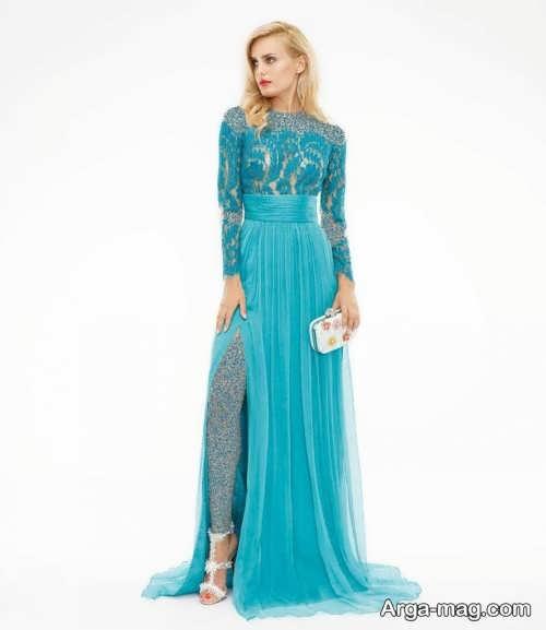 Long silk dress 6 - مدل لباس حریر بلند برای خوش پوش بودن در مجالس و مهمانی ها
