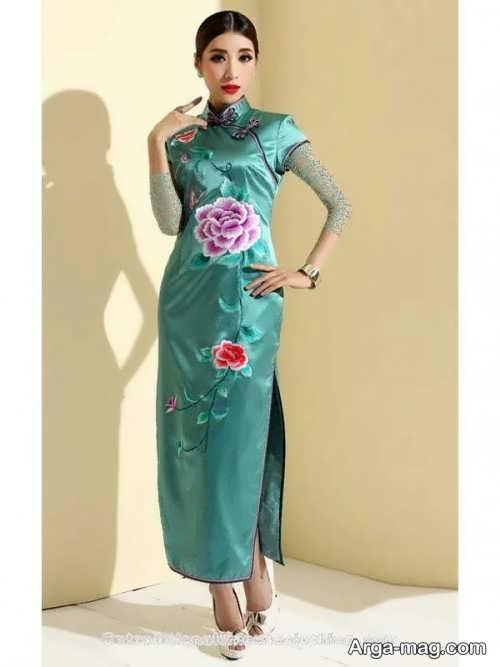 Long silk dress 7 - مدل لباس حریر بلند برای خوش پوش بودن در مجالس و مهمانی ها